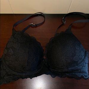 aerie bra size 34C with black lace